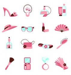 women objects icon vector image vector image