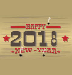 2018 happy new year western vector image