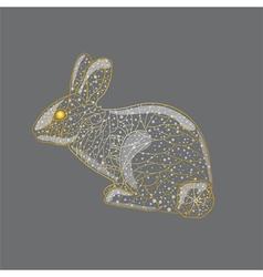 Abstract golden rabbit vector image