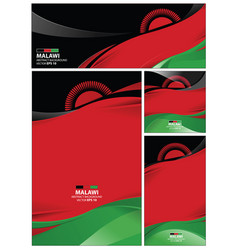 abstract malawi flag background vector image