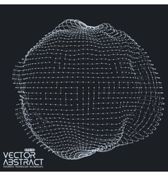 Abstract mesh distorted sphere made of vector