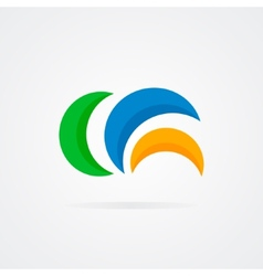 Abstract semicircle design logo vector