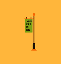 Advertising billboard on old style street lamppost vector