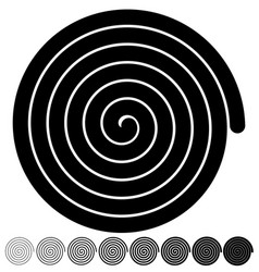 Archimedean arithmetic abstract spiral set on vector