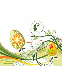 background Easter vector image