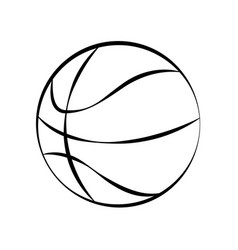 basketball ball doodle on white background vector image