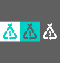 battery recycling logo vector image