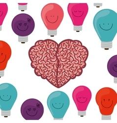 brain thinking design vector image