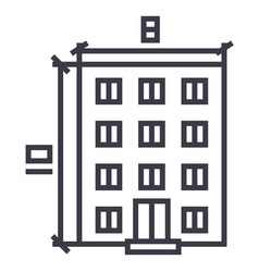 buildingarchitecture project line icon vector image