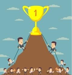 Business Men in Career Race vector