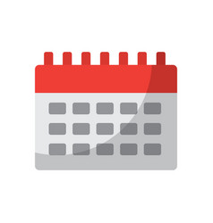 calendar business plan reminder icon vector image