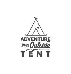 Camping logo with typography saying and travel vector image
