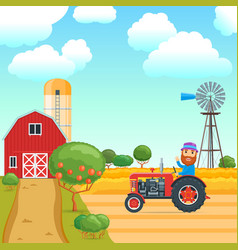 cartoon agricultural concept 01 vector image