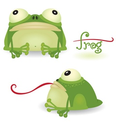 Cartoon frog vector