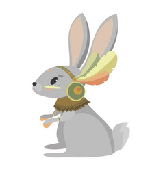 cartoon hare indian a cute vector image