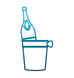 champagne bottle in ice bucket vector image