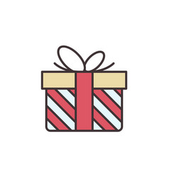 christmas gift concept colored icon or logo vector image