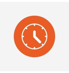 Clock sign icon Mechanical clock symbol vector image
