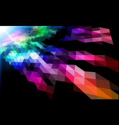 color grid mosaic design abstract virtual space vector image