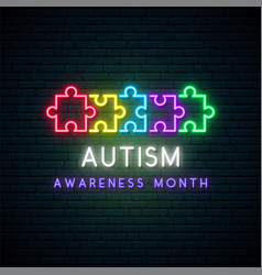 Colorful puzzle symbol autism awareness month vector