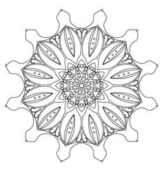 coloring book page round decorative ethnic motif vector image