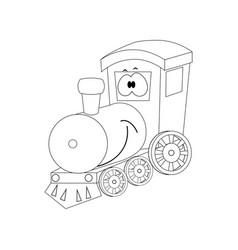 colorless funny cartoon train vector image