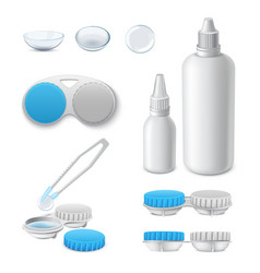 contact lens accessory case box holder container vector image