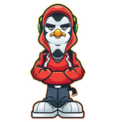 cool penguin swag vector image