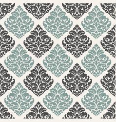 damask seamless pattern for design vintage vector image