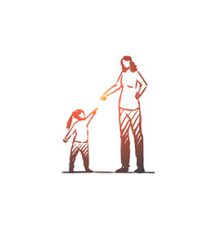 daughter mother angry scold conflict vector image