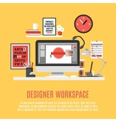 Designer Workspace vector image