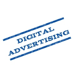 Digital Advertising Watermark Stamp vector