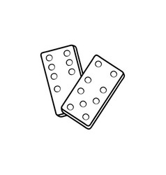 domino hand drawn sketch icon vector image