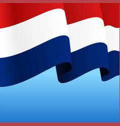 dutch flag wavy abstract background vector image