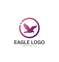 eagle logo design modern eagle logo template vector image