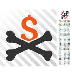 Financial crash flat icon with bonus vector