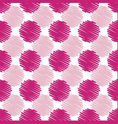 fun summery pink scribble dots pattern background vector image