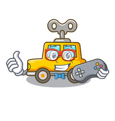 Gamer cartoon clockwork toy car for gift vector
