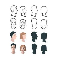 Gender Portraits vector