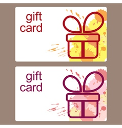 Gift cards templates vector image
