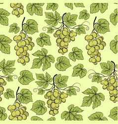 grape seamless background vector image