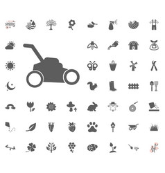 Grass-cutter icon spring icon vector