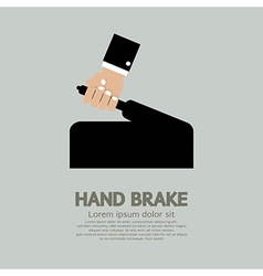 Hand Brake vector