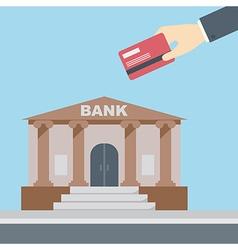 Hand credit card bank vector image
