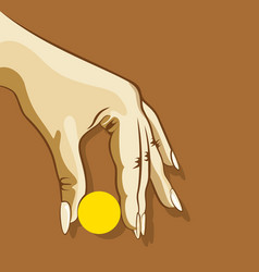 Hand hold something object vector