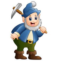 happy dwarf miner vector image