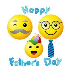 happy fathers day emoji smiley vector image