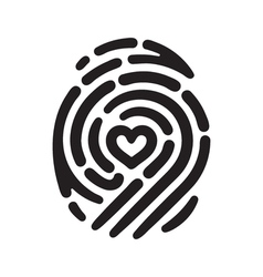 Heart fingerprint 01 vector
