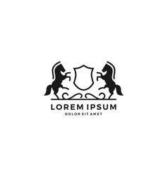 Horse crest logo vector