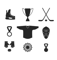 Ice Hockey Icon set vector image